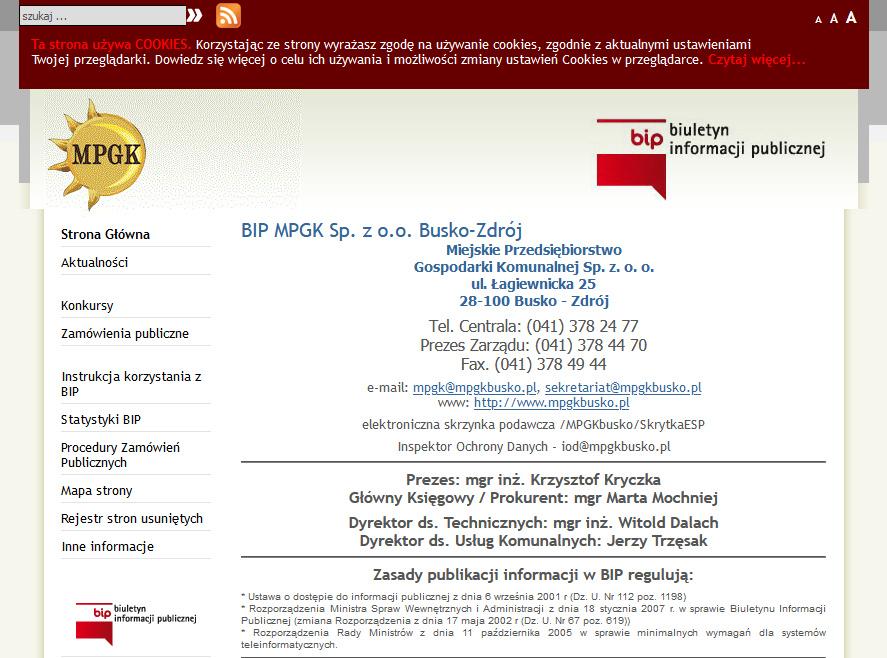 Link do archiwalnych wpisów BIP
