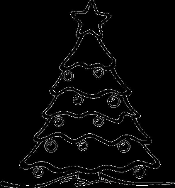 Rysunek świątecznej choinki
